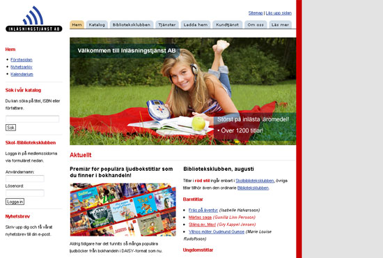 Screenshot - www.inlasningstjanst.se