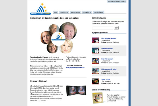 Screenshot - www.speakingbooks.se