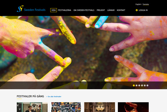Screenshot - www.swedenfestivals.com