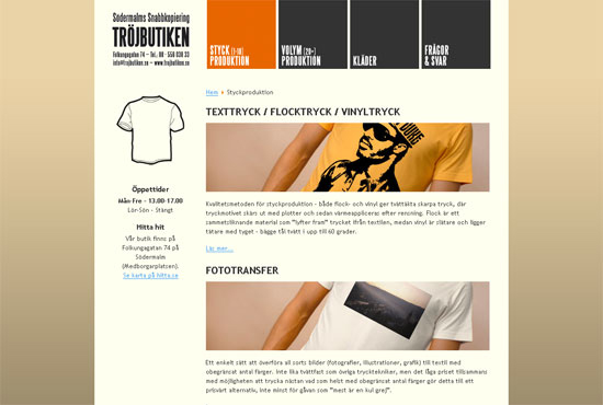Screenshot - www.trojbutiken.se